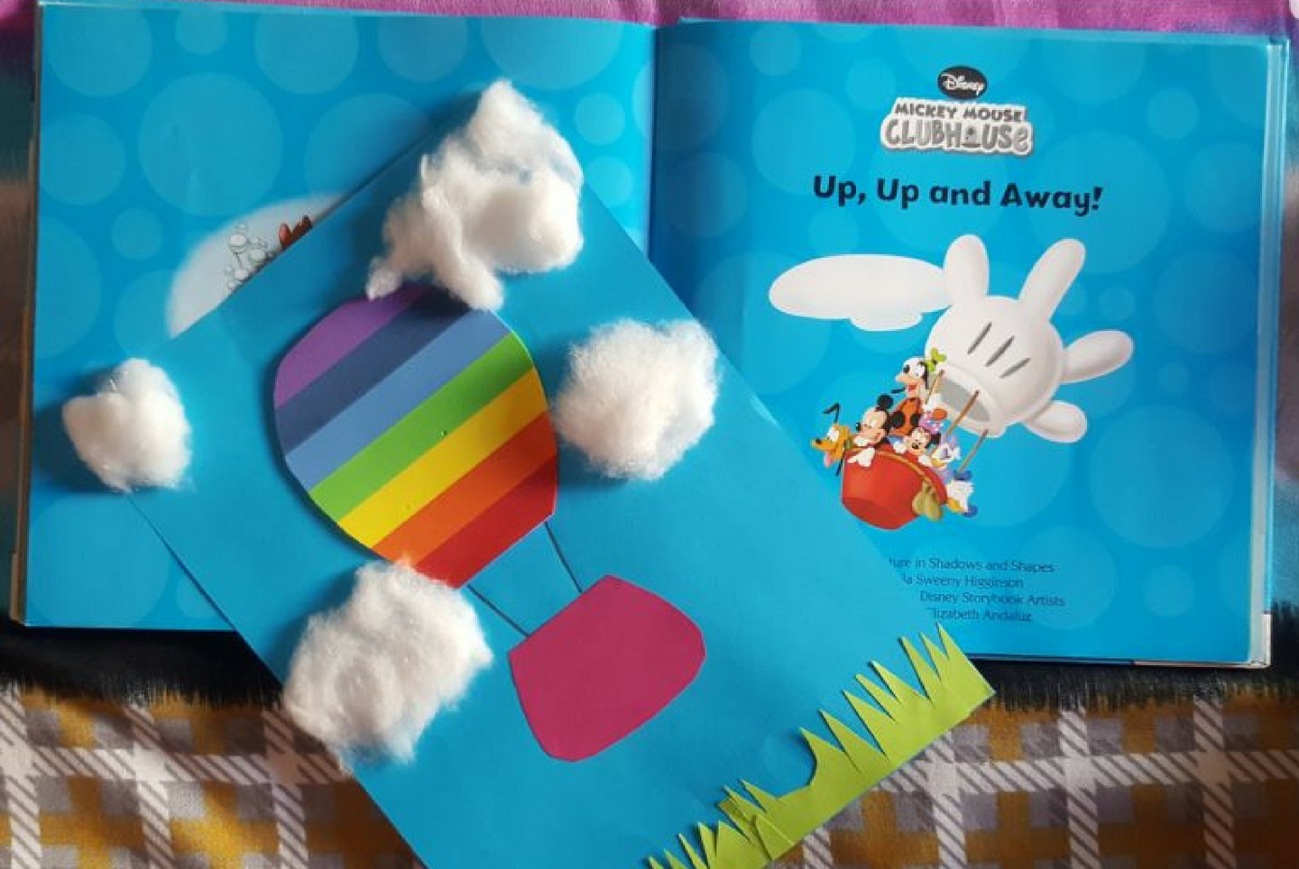 Hot Air Balloon A Book Themed Craft For Your Little Ones